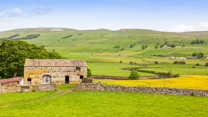 Old Stone Barn in the Yorkshire Dales royalty free stock photo