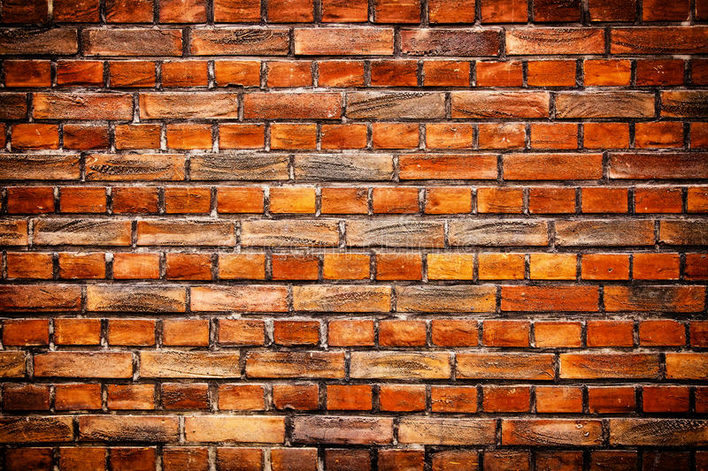 Old stone brick wall background. Old stone red bricks wall background stock photography