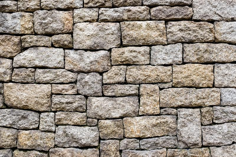 Old stone brick wall pattern of decoration royalty free stock photo
