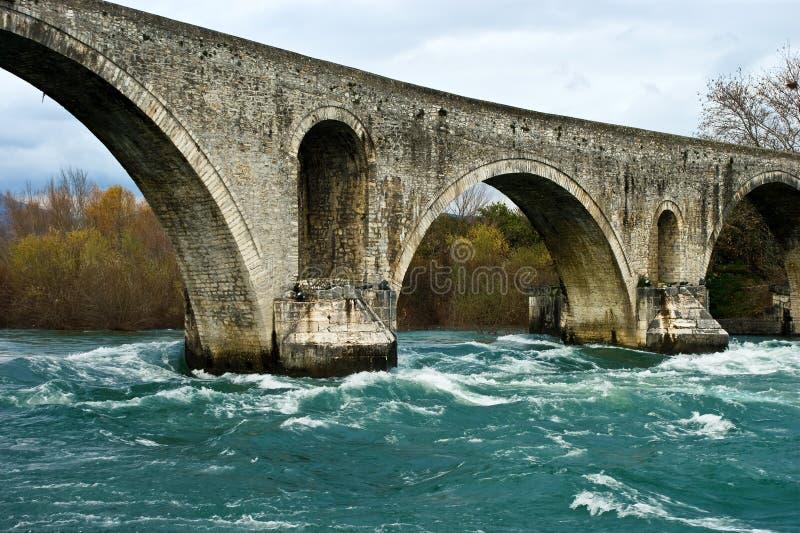 Old stone bridge. stock photo