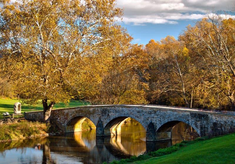 Old stone bridge at Antietam National Battlefield royalty free stock photos
