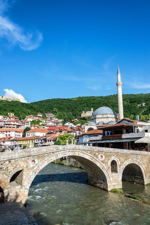Old Stone Bridge in Prizren, Kosovo stock images
