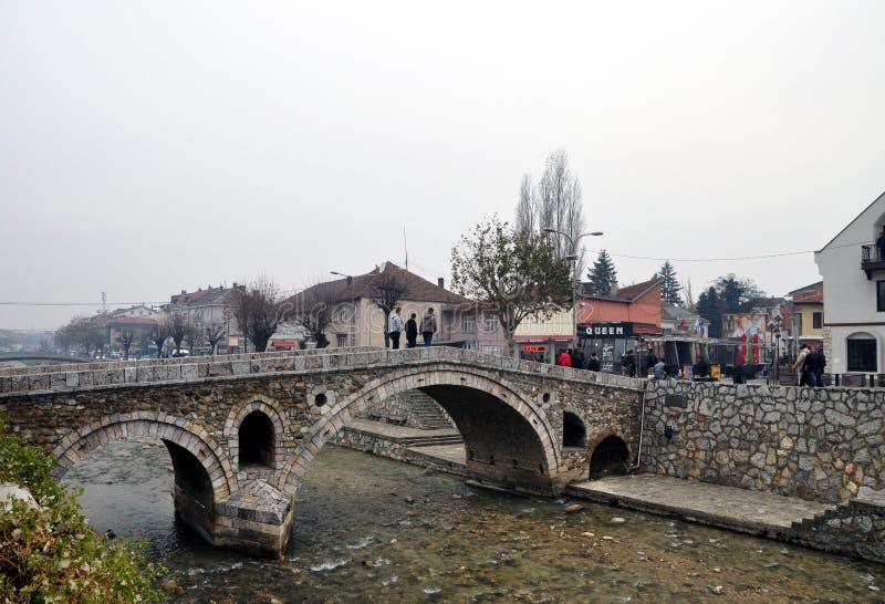 Old Stone Bridge, Prizren Kosovo stock image