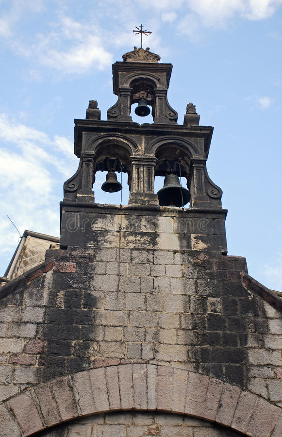 Old christian bell tower royalty free stock image