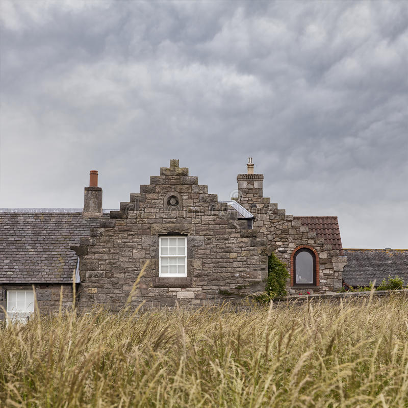 Old stone cottage royalty free stock photos