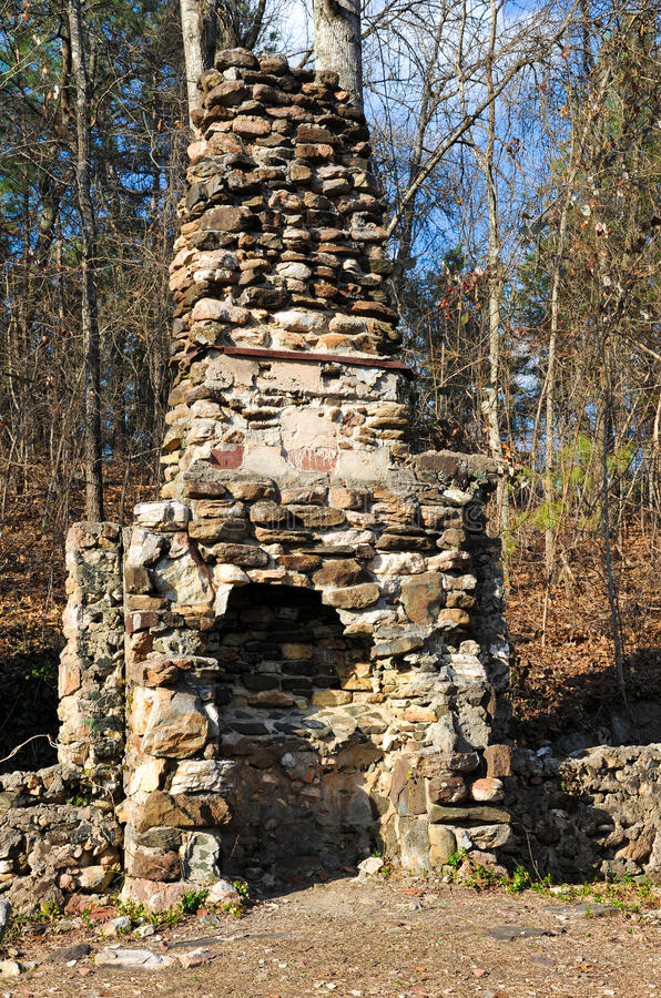 Old Stone Fireplace stock photo  Image of tree site 41335244