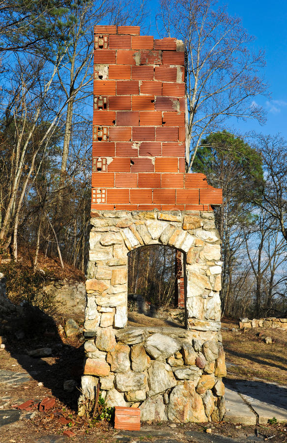 Download Old Stone Fireplace stock photo  Image of destroyed stone 41335268