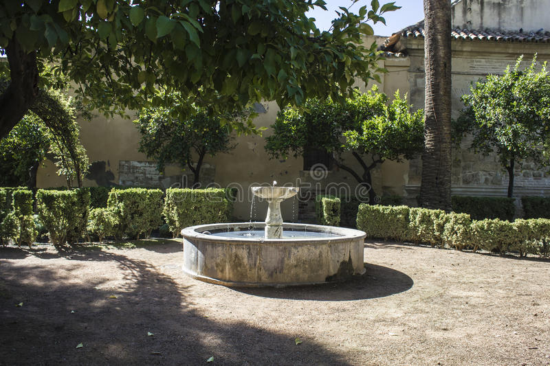 Old stone fountain royalty free stock photography