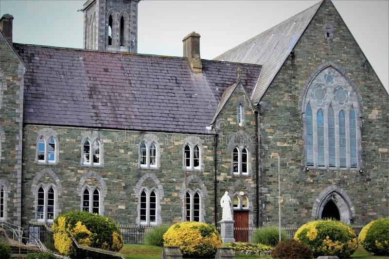 Old Stone Friary. The Franciscan Friary in Killarney built in 1867 royalty free stock photography