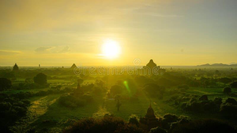 Burma sunset royalty free stock image
