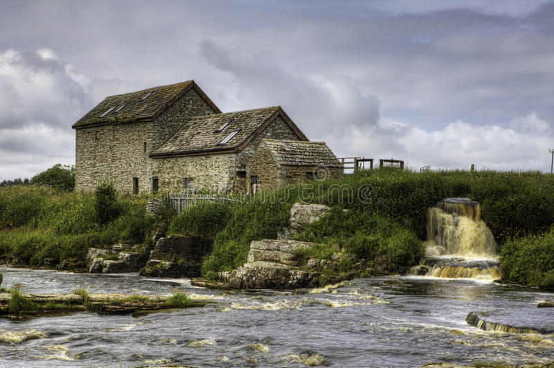 An old stone mill in Thurso, Scotland royalty free stock photo