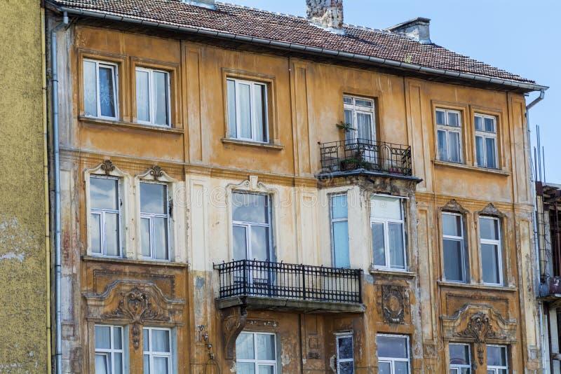 Old stone orange building. Orange old stone building in sofia ,bulgaria royalty free stock images