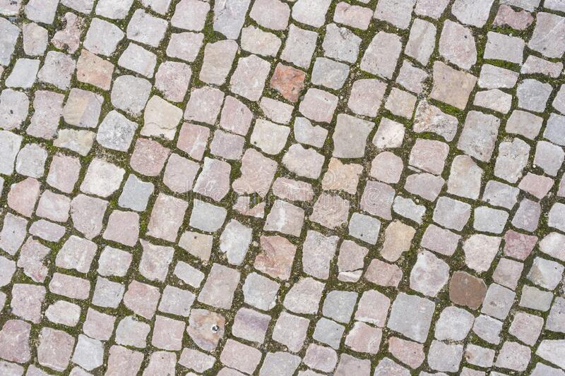 Old stone pavement royalty free stock photos