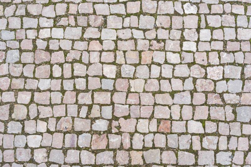 Old stone pavement stock image
