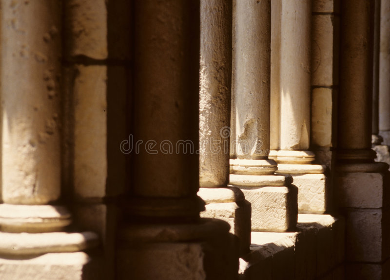 Old Stone Pillars stock images