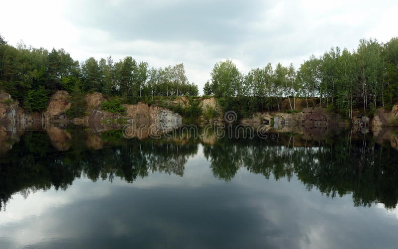 Old stone quarry royalty free stock image