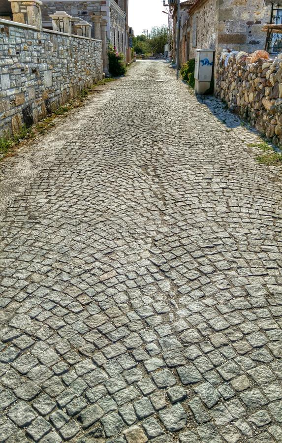 Old stone road royalty free stock photography