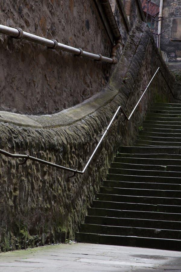 Old stone staircase, Edinburgh, Scotland royalty free stock photos