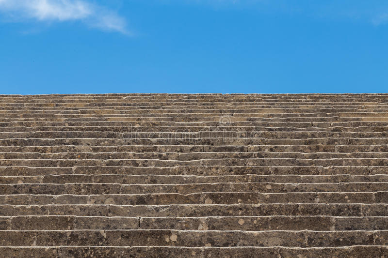 Old stone staircase to the sky stock photos