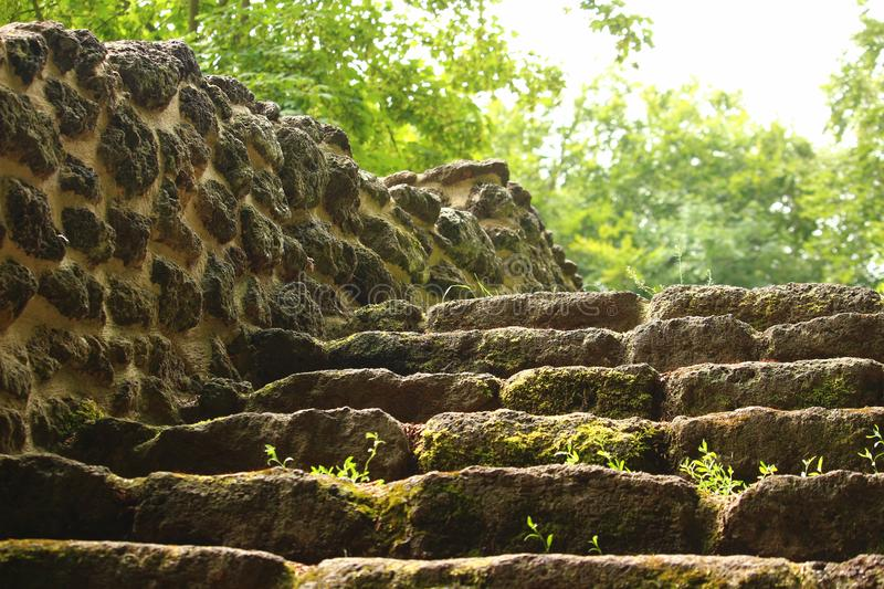 Old stone stairs royalty free stock images
