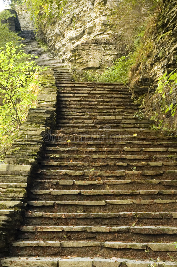 Old stone stairway stock image