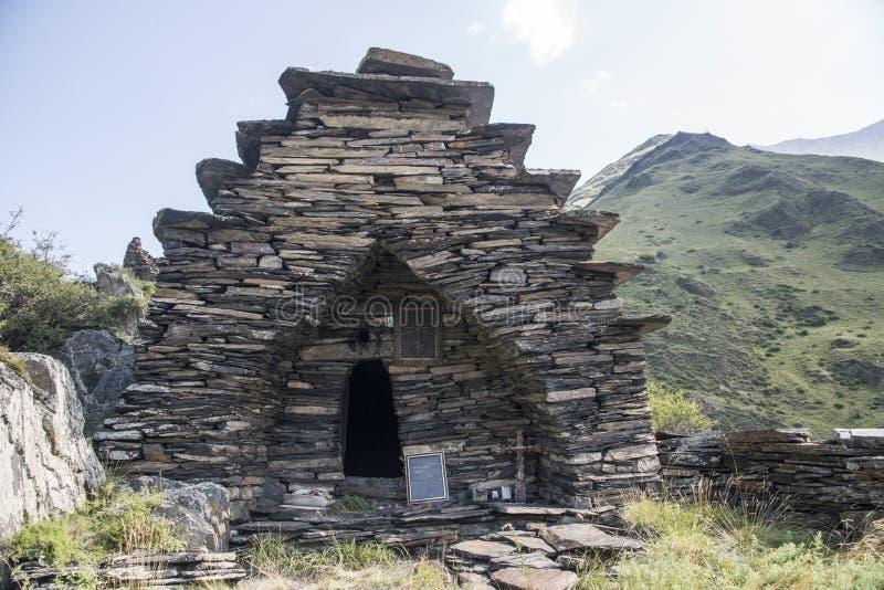 Old stone temple in Georgia stock photos