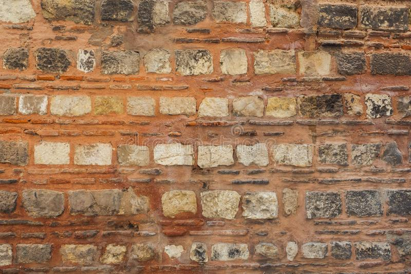 Old stone wall. Cement brick background. Texture. Abstract banner stock photos