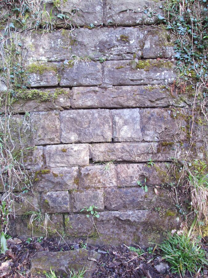 Old Supporting Stone Wall stock photo
