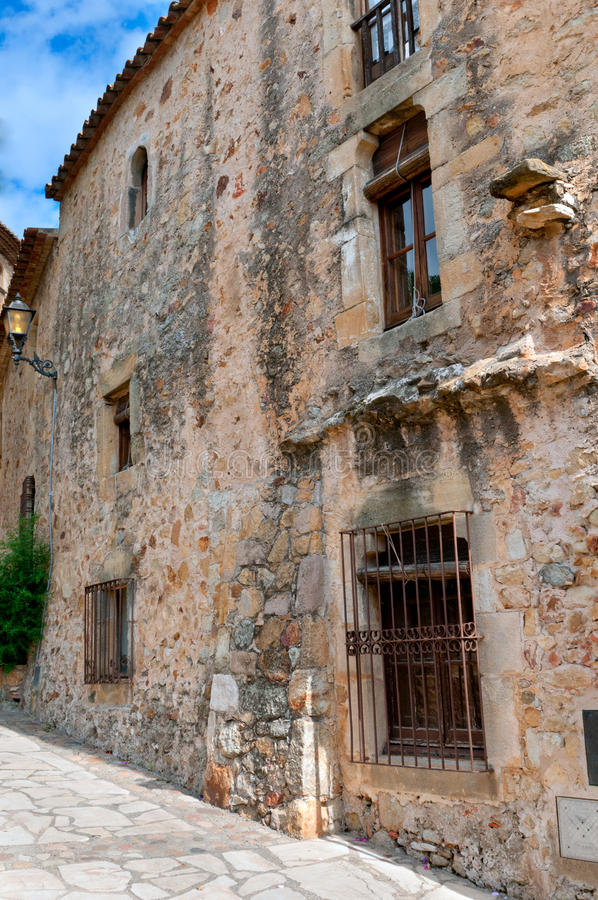 Download Old Stone Wall, Peratallada, Spain Stock Image - Image: 22949477