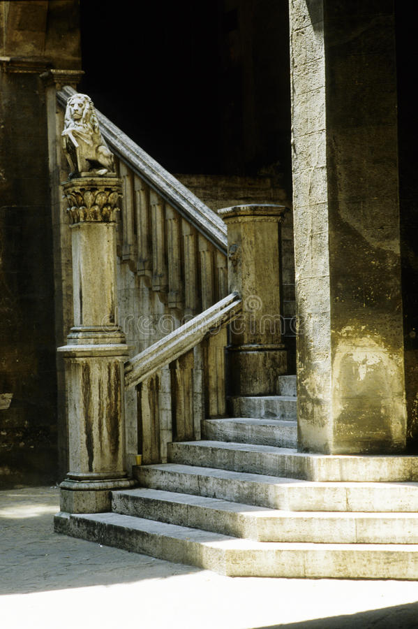 Old stony stairway royalty free stock photography
