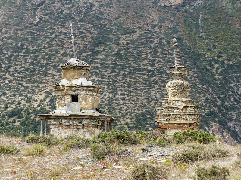Old Stony Stupas stock photo