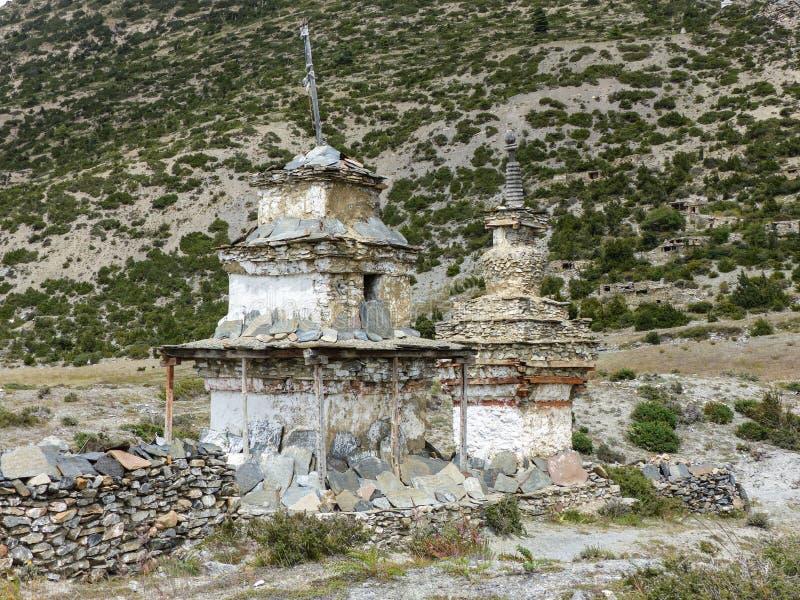 Old Stony Stupas royalty free stock photos