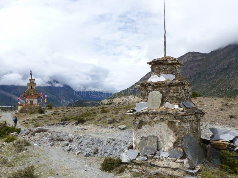 Old Stony Stupas stock photography