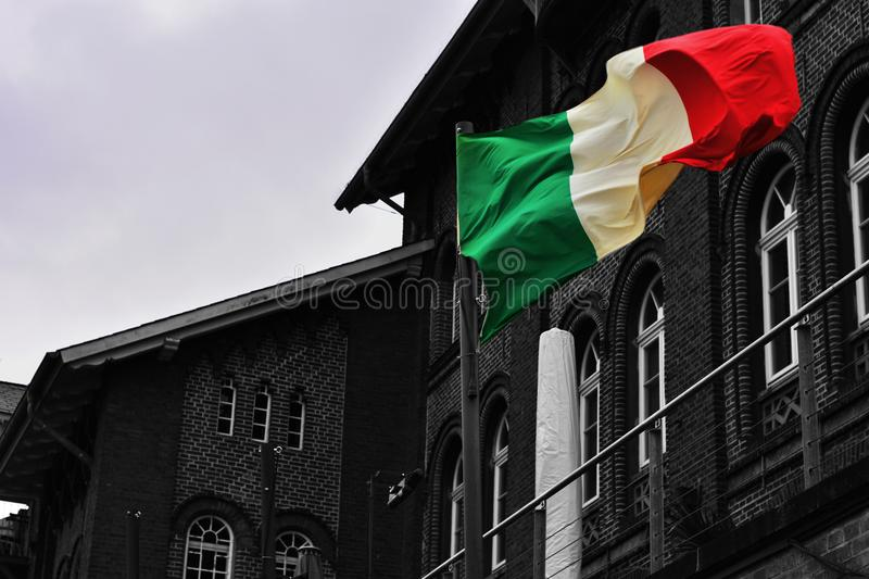 Italienische Flagge royalty free stock photography