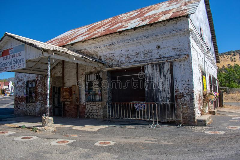 Old store in Coulterville California stock photography