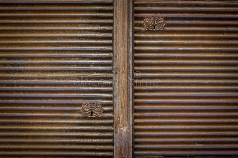 Old store roller Shutter door stock photo