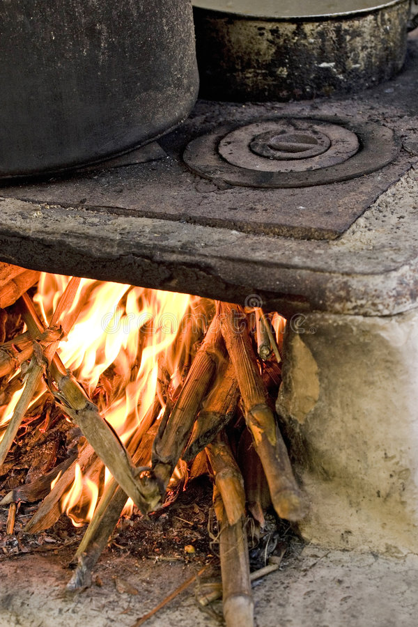 Download Old Stove stock photo. Image of temperature, burn, flames - 5088102