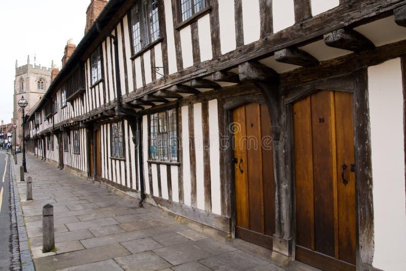 Old Stratford upon Avon. Classic old english town doorways, Stratford upon Avon stock photos