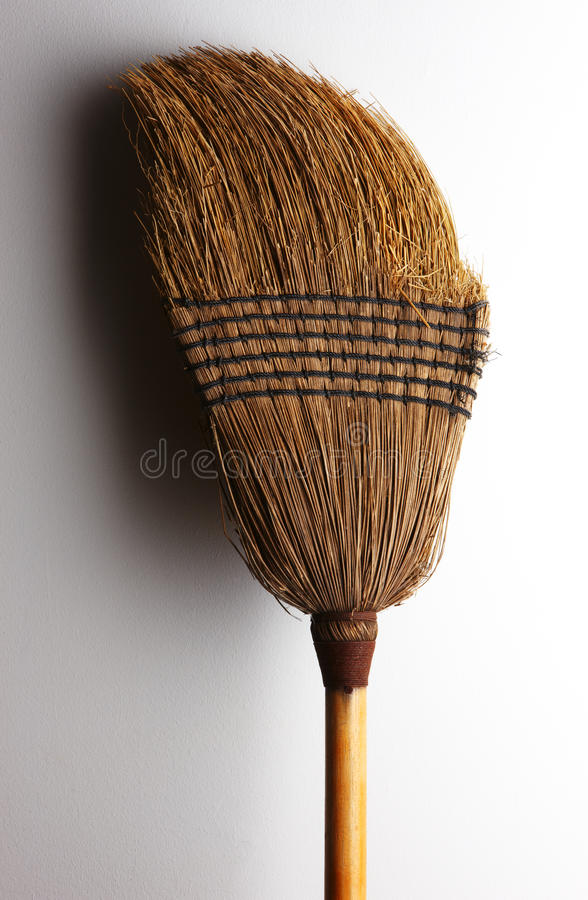 Old Straw Broom Stock Images