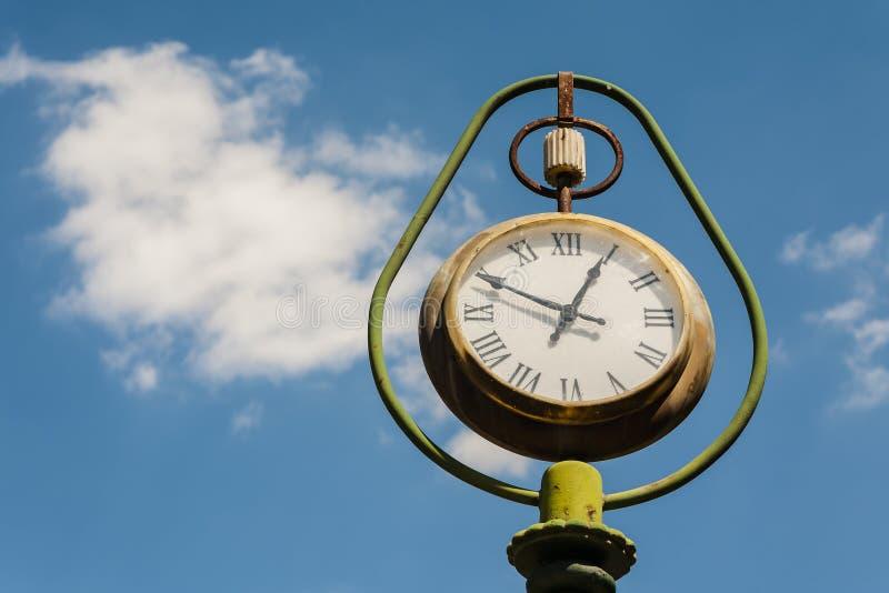 Old street clock. stock photo
