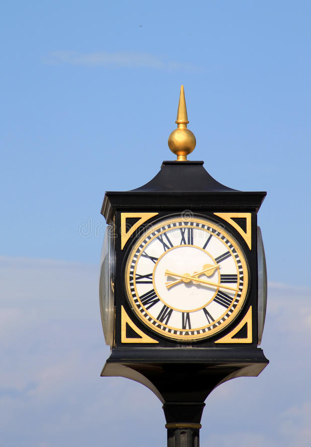 Download Old Street Clock In Tbilisi Stock Photo - Image: 23771556