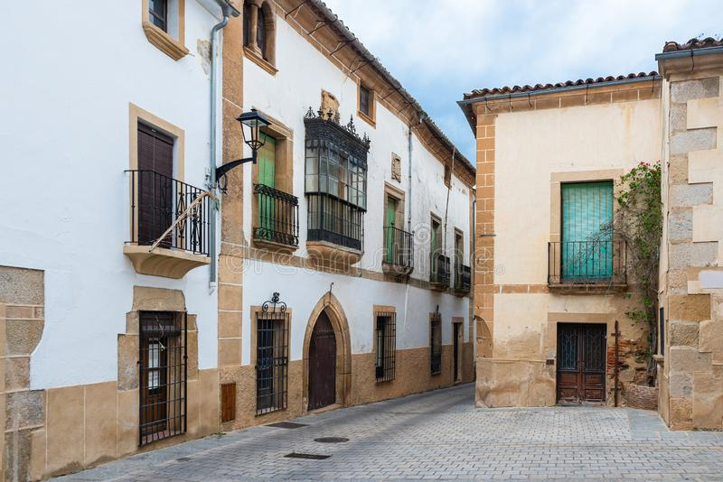Old street in Coria, Caceres, Extremadura, Spain.  royalty free stock photography