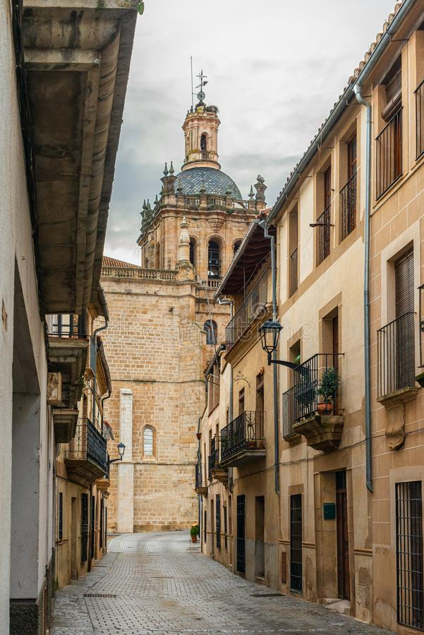 Old street in Coria, Caceres, Extremadura, Spain.  royalty free stock photo