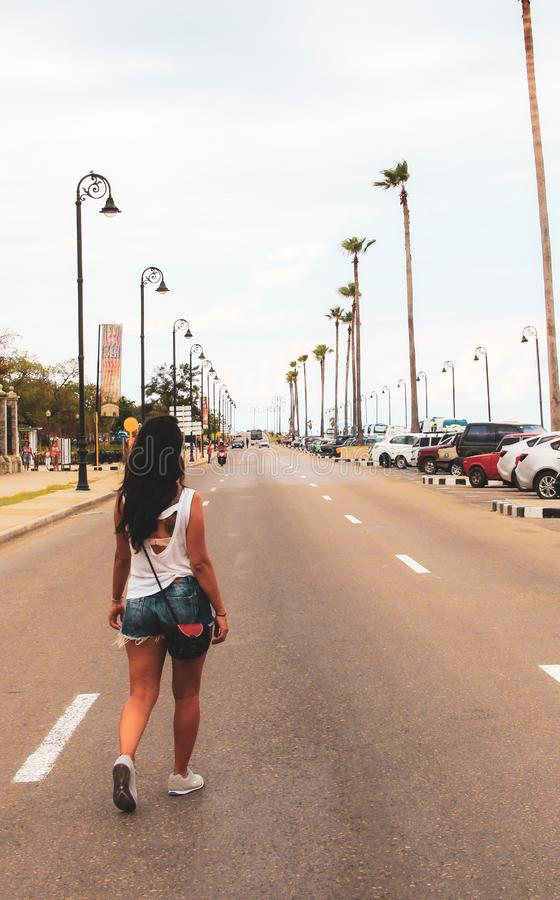 Old street of Havana in Cuba, Caribbeans stock image