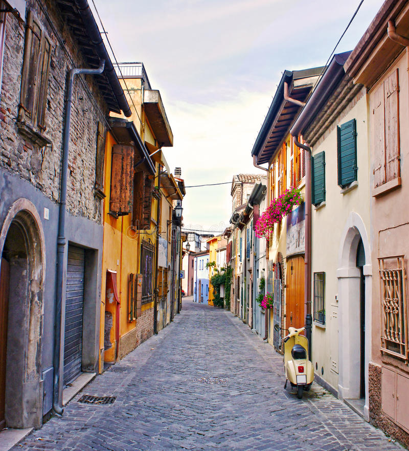 Free Old Street In Rimini, Italy Royalty Free Stock Photography - 40840147