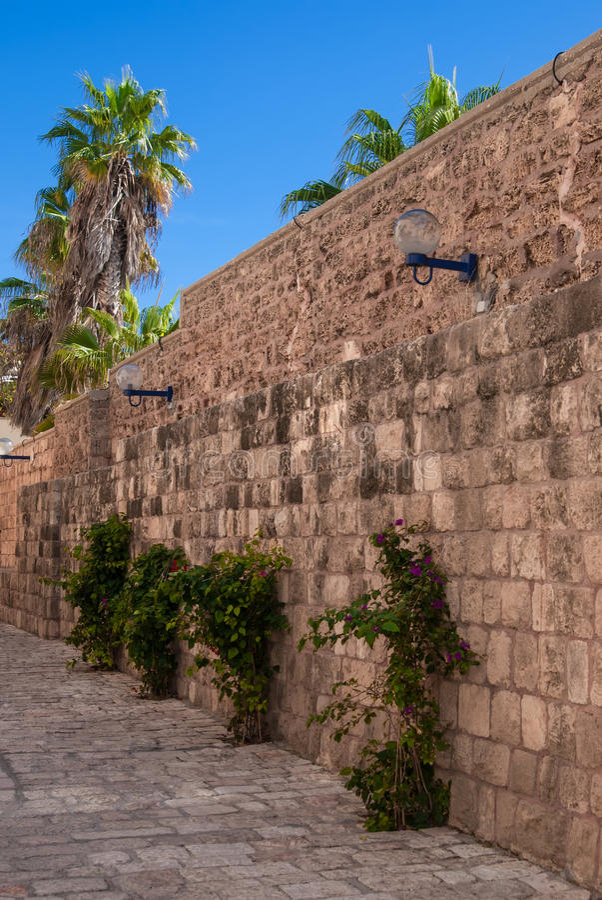 Old street of Jaffa, Israel stock photography