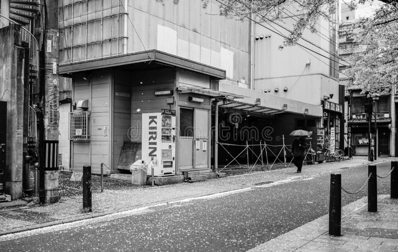 Old street in Kyoto, Japan royalty free stock photo