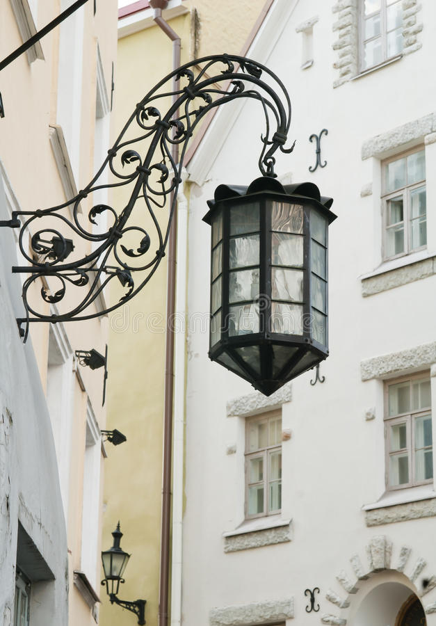 The old street lamp stock image
