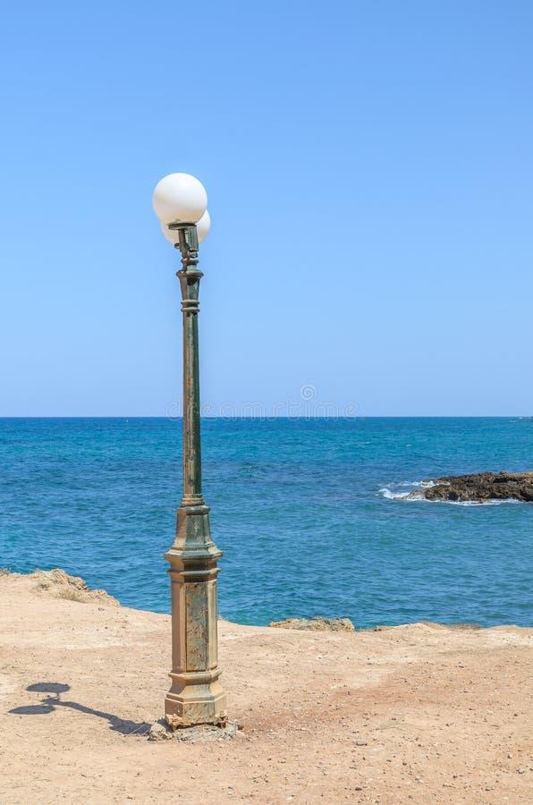 Free Old Street Lamp At The Beach On Crete Island Stock Photos - 47171903