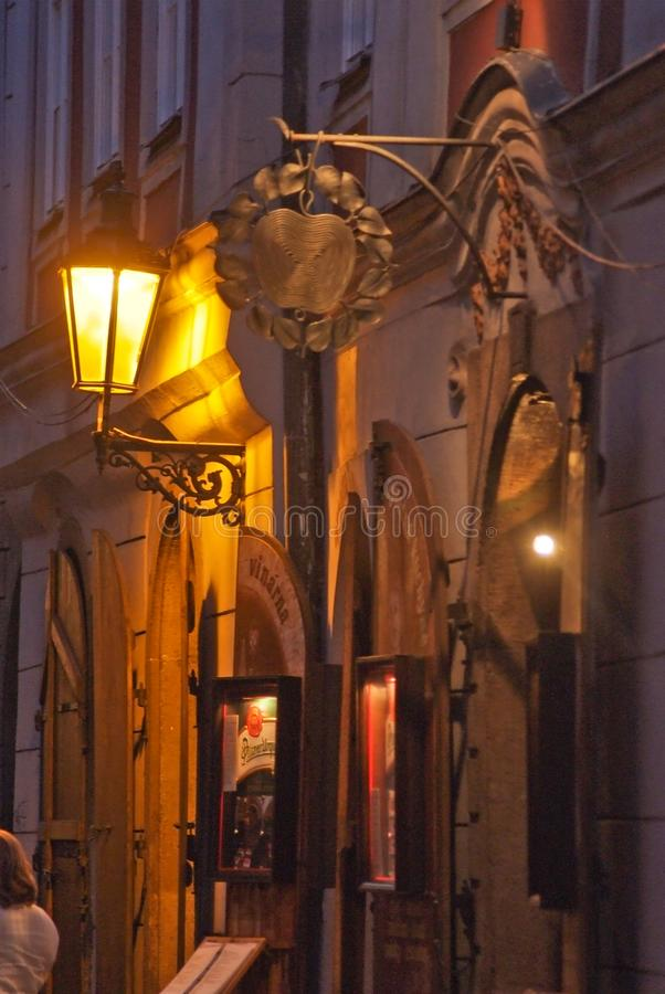 The details of the decoration of the street. Prague, Czech Republic. royalty free stock photo